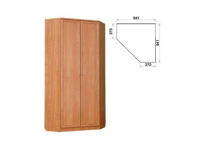 Шкаф угловой со штангой и полками купить по цене 7350.00 в к.